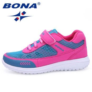 BONA, recién llegado, estilo de moda, zapatos de malla Casual para niños y niñas, zapatos transpirables ligeros suaves para caminar, envío gratis