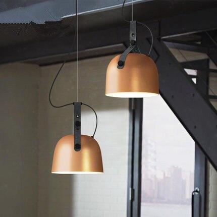 2018 nouvelle personnalité Design Simple américain Style industriel pendentif lumières café Restaurant Bar chambre en cuir ceinture lumières