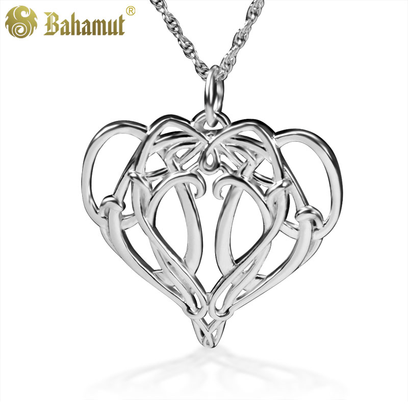 LOTR 925 Silver Necklace The Hobbit Elves King Elrond Pendant for Men Boy Cosplay Gift Heart Necklace Party цены