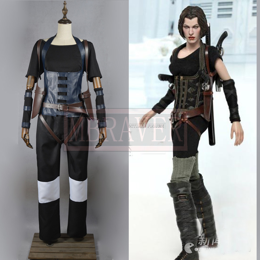 Resident Evil 4 Alice Cosplay Costume Full Set Customize Any Size