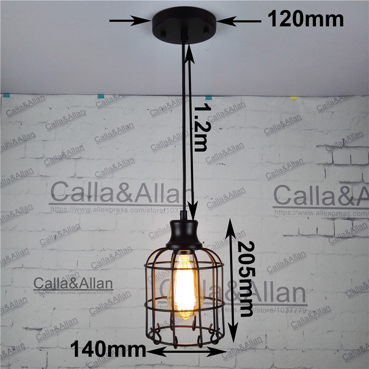 Industrial loft style multicolor edison modern metal wire frame industrial loft style multicolor edison modern metal wire frame ceiling pendant hanging light lamp lampshade cage fixture in pendant lights from lights greentooth Images