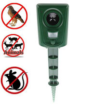 Ultrasonic Cat Repeller Pest Repeller Bird Dog Fox Deterrent Chaser Repellent Eco-friendly Garden Pest Animal Repeller horn bird repeller waterproof environmentally friendly bird repeller ultrasonic animal control without battery