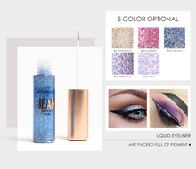 2018 NEW ARRIVAL  5 COLOR liquid glitter eyeliner waterproof eye cosmetics beauty long-lasting shimmer shine makeup