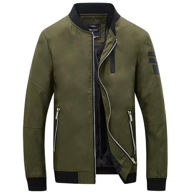 2016 New Bomber Jacket Men Veste Homme Autumn Mens Fashion Pu Leather Splice Windproof Zipper Varsity Baseball Jacket 5Xl