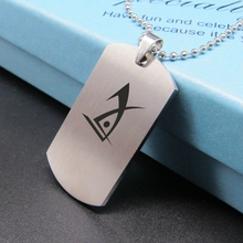 New Deus Ex Logo Necklace Dog Tag Pendant Stainless Steel Military Cyberpunk Cosplay Game Jewelry for Women and Men fans