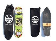 Mochilas de patinaje de un solo hombro con doble balancín/pequeñas bolsas de transporte de Fishboard con cordón