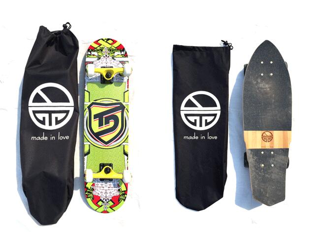 Skateboard Backpacks SIngle-Shouler Double Rocker/Small Fishboard Carrying Bags With Drawstring