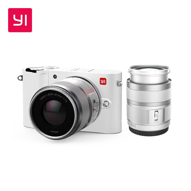 YI M1 Mirrorless Appareil Photo Numérique Premier Zoom Lentille LCD Minimaliste Version Internationale 20MP Vidéo Enregistreur 720RGB Numérique Cam