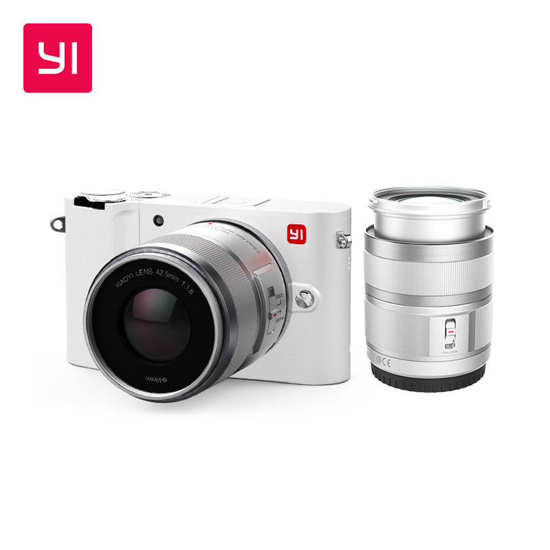 YI M1 Mirrorless cámara Digital primer Zoom lente LCD minimalista versión internacional 20MP grabadora de Video 720RGB cámara Digital
