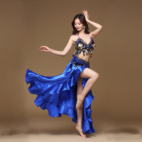 New Adult Lady women Belly Dance Costume Oriental bellydance skirt Stage Performance 3pcs set Bra Belt Skirt Bellydancing Wear