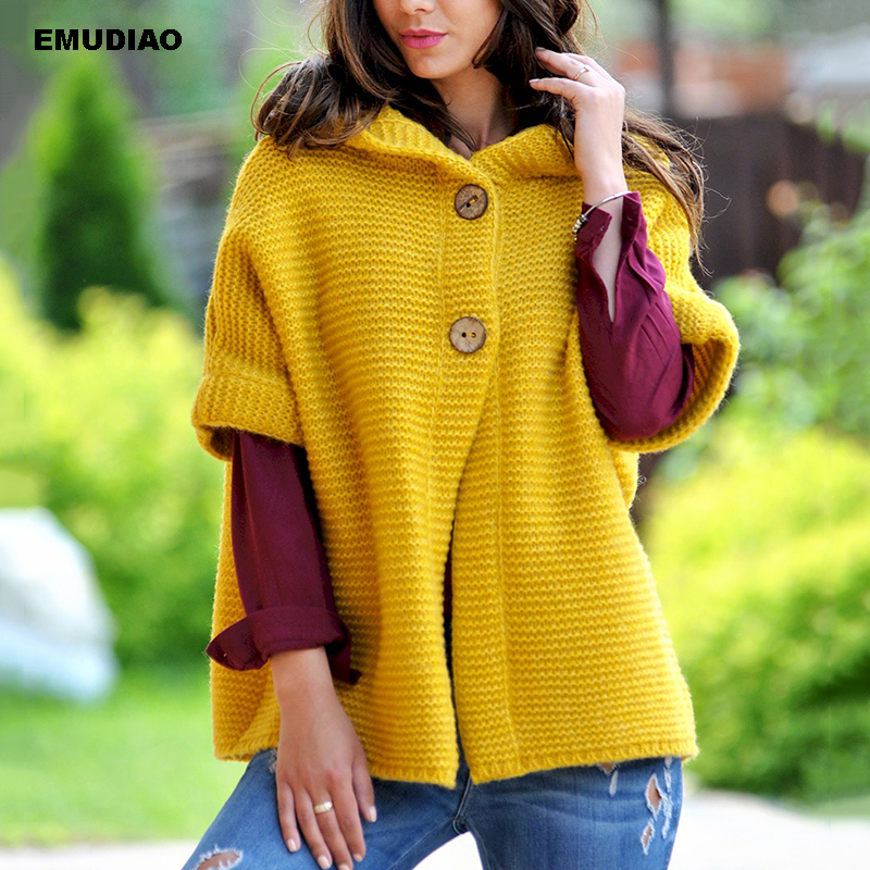 Hooded Cardigan Sweater Women Breasted Knitted Cardigans Sweater Woman Winter 2019 Casual Solid Knitwear Clothes Feminine Coat