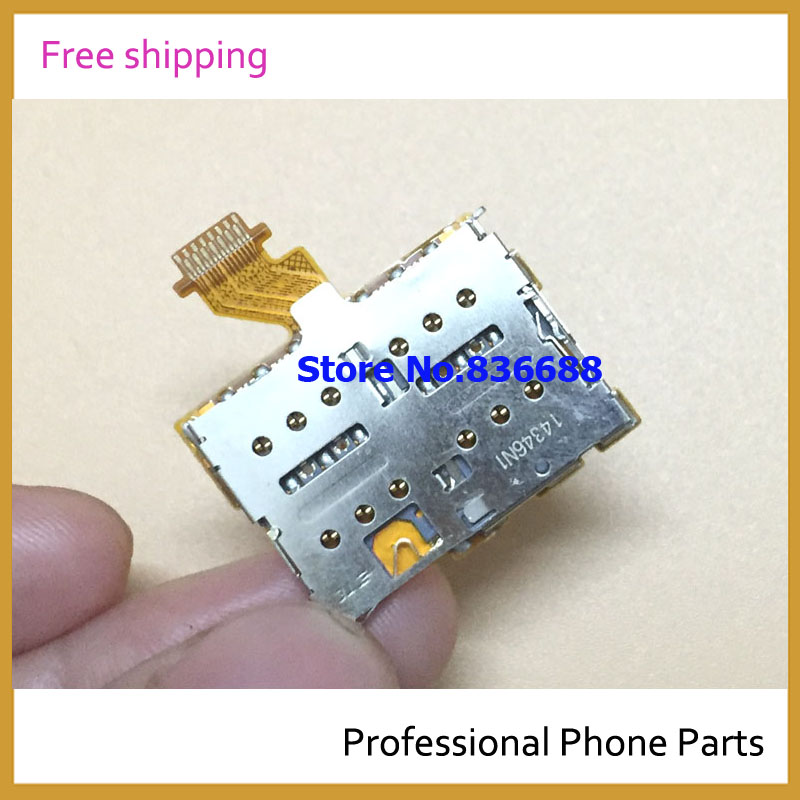 Original New For HTC One M8 Dual M8D E8 Dual Sim Card Reader Slot Holder Flex Cable Parts In Mobile Phone