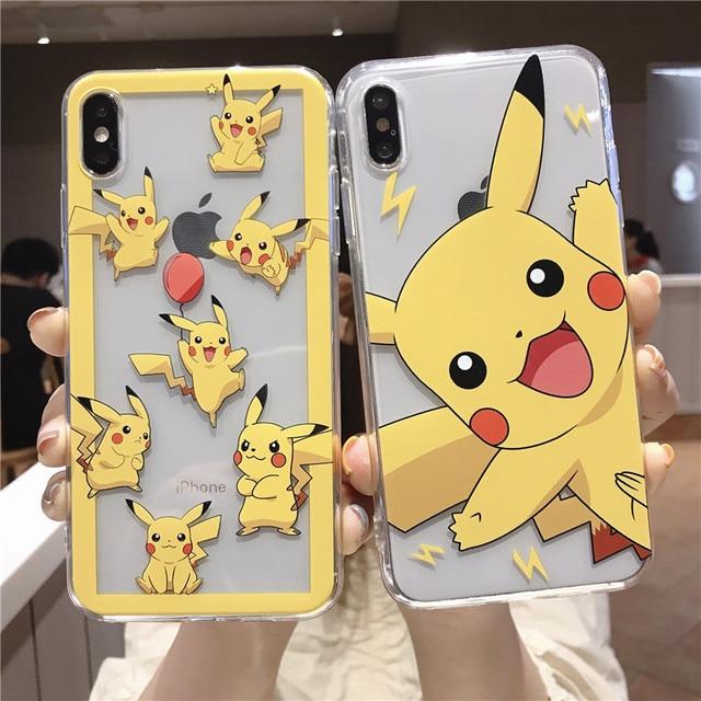 Pokemons Pikachue Super Marios Spider-man Tom Jerry Toy Story Claro Macio TPU Caso Capa Para o iphone XS Max XR X 8 6 7 6S Plus