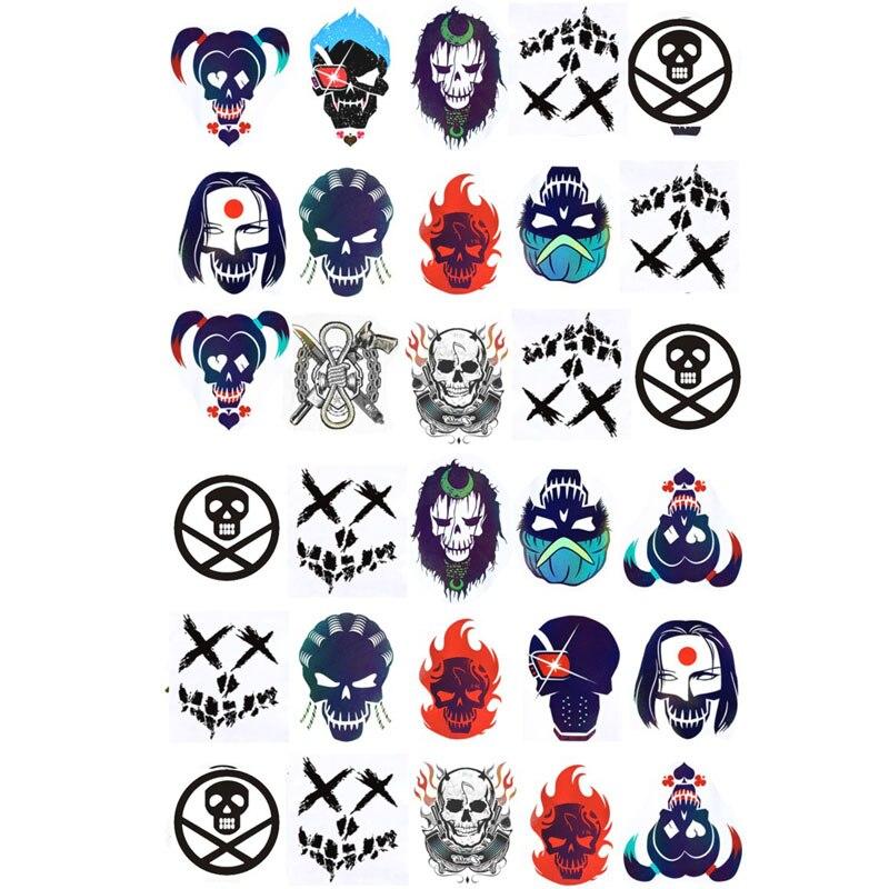 10 Stijlen Suicide Squad Harley Quinn Cosplay Kleine Lelijke Tattoo