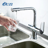 DUZI Kitchen Faucet Mixer Double Spout Drinking Water Filter Tap Kitchen Faucets Purified Water Spout Torneira