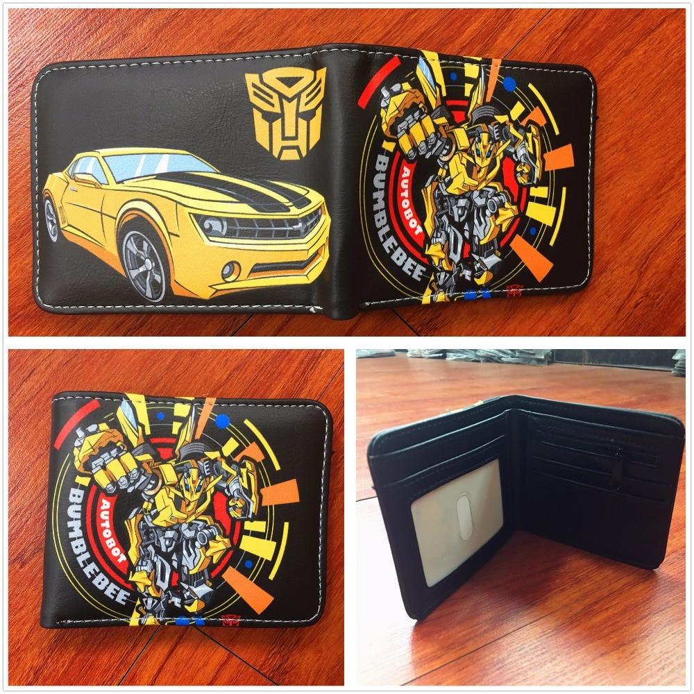 2018 New arrivel Transformers wallets Bumblebee logo purse short PU leather wallet credit card purse W646