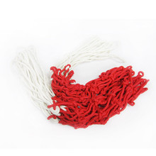 2 Pieces Durable Universal 45-50cm red+white+blue Standard Sports Nylon Thread Basketball Rim Mesh Net Loops
