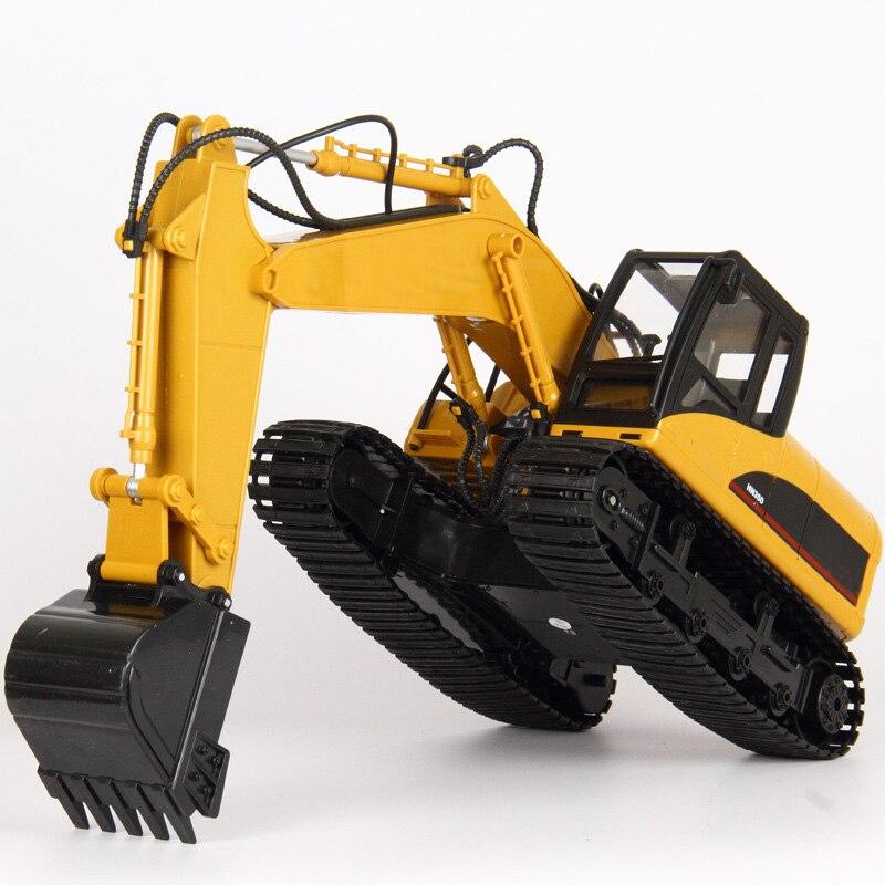 15 canaux 2.4G 1/14 RC pelle camion jouet supprimer contrôle Construction véhicule garçon cadeaux RC ingénierie voiture tracteur Brinquedos