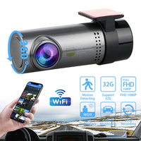 DUBY Mini FHD 360 Rotation WiFi Dash Cam G sensor Portable Car DVR Wide Angle Len Vehicle Driving Camcorder for iPhones Android