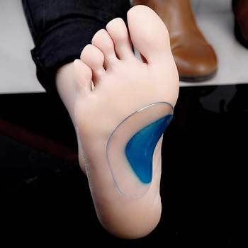 2Pcs Arch Support Insole Of Flatfoot Gel Pads For Feet Orthotics Insoles Foot Health Care Massage Muscle Resist Painful Massager