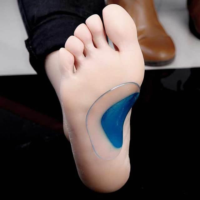 2 piezas soporte de arco Plantilla de almohadillas de Gel de pie plano para pies plantillas ortopédicas cuidado de la salud de los pies masaje muscular resistente al dolor masajeador