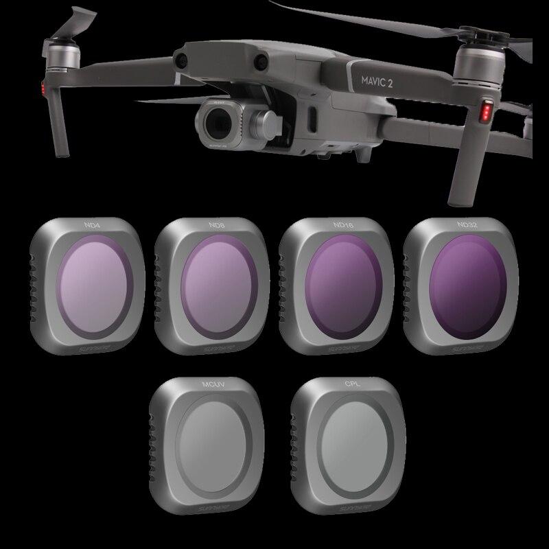 In Magazzino 3/4/6 pz Set di Filtri MCUV CPL ND4 ND8 ND16 ND32 Lens Filter Kit per DJI MAVIC 2 PRO Macchina Fotografica Drone Filtro Accessori
