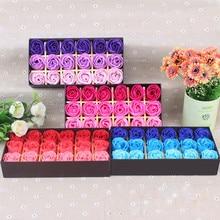 18 шт. ароматизированное мыло для тела с лепестками роз, подарок для свадебной вечеринки, Flor De Jabon#1
