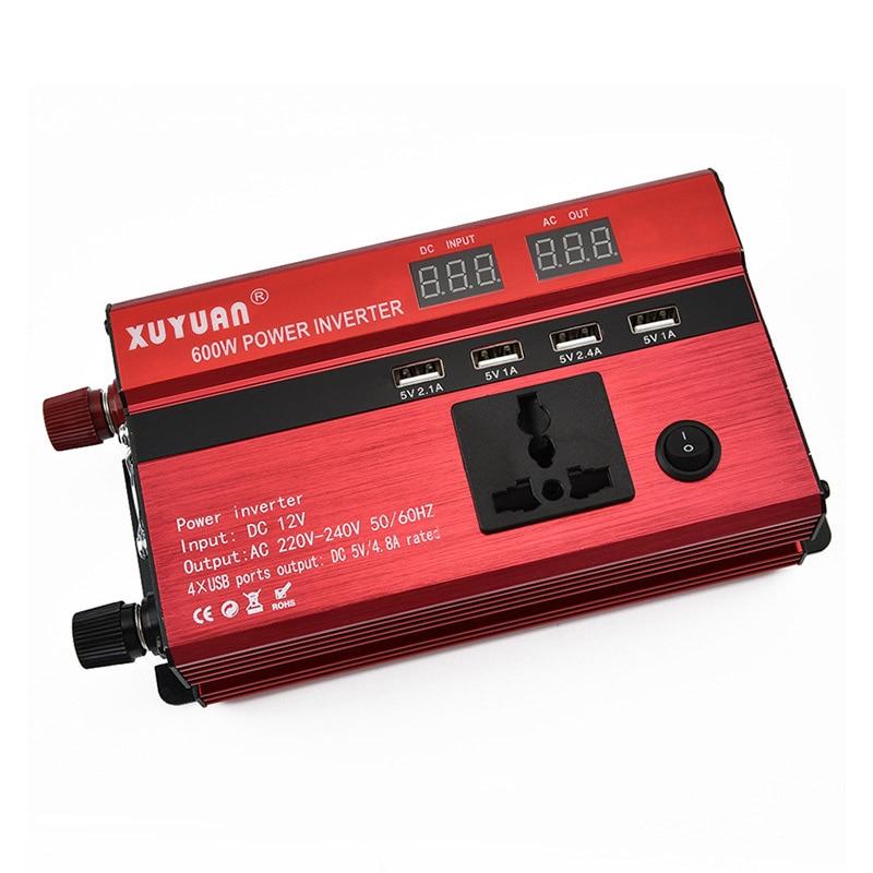 Car Inverter LED Display Electric Cigarette Holder Conversion 12v to 110v/600w Inverter YAN88