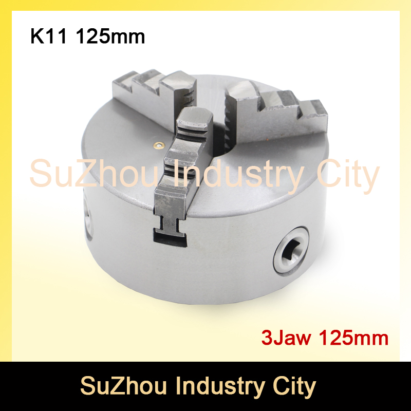 CNC 4th axis A axis 125mm 3 jaw Chuck self-centering manual chuck K11 fourth jaw for CNC Engraving Milling machine Lathe Machine