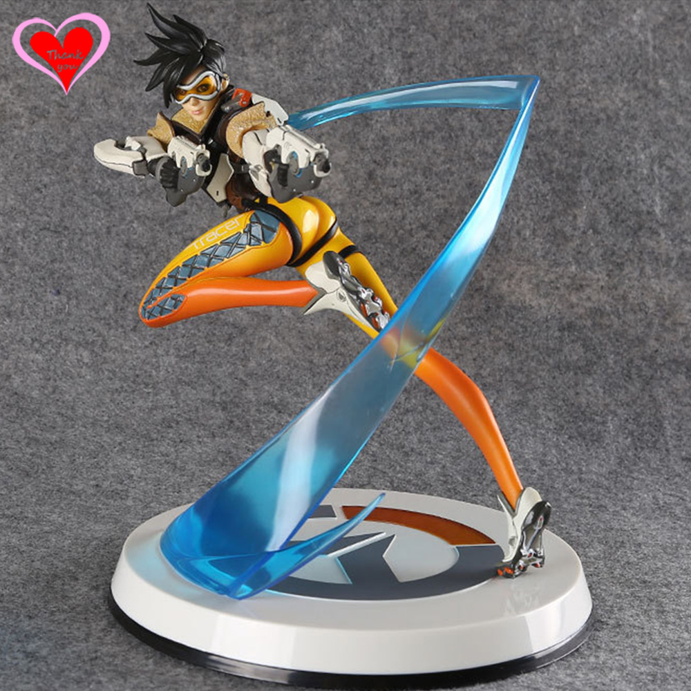 Love Thank You game watch Tracer pvc figure toy Collectibles Model gift doll all characters tracer reaper widowmaker action figure ow game keychain pendant key accessories ltx1