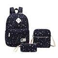 3 шт. blue star мальчики школьный рюкзак мужчины дорожные сумки женщины школьный стильные рюкзаки для девочек-подростков дети сумки карандаш случае