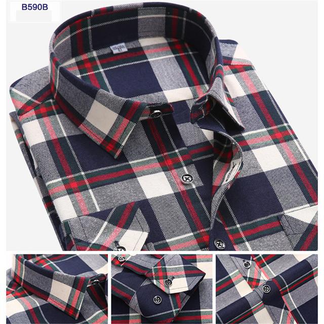 Cotton Flannel Men Shirts
