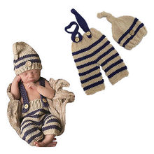 Hot Infant Photo Photography Prop Outfit Cute Newborn Baby Boy Knit Costume