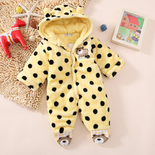 2017 New Baby Winter Romper Cotton Padded Thick Newborn Baby Girl Warm Jumpsuit Autumn Fashion baby's wear Kid Climb Clothes