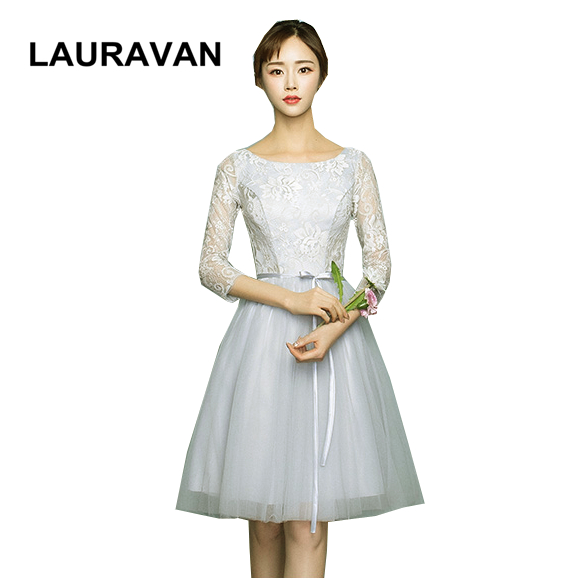 Short Length Grey Girls Tulle Bridesmaid Dresses Size 8 With Sleeves From China For Bridesmaids Dress Multi Styles Ball Gown