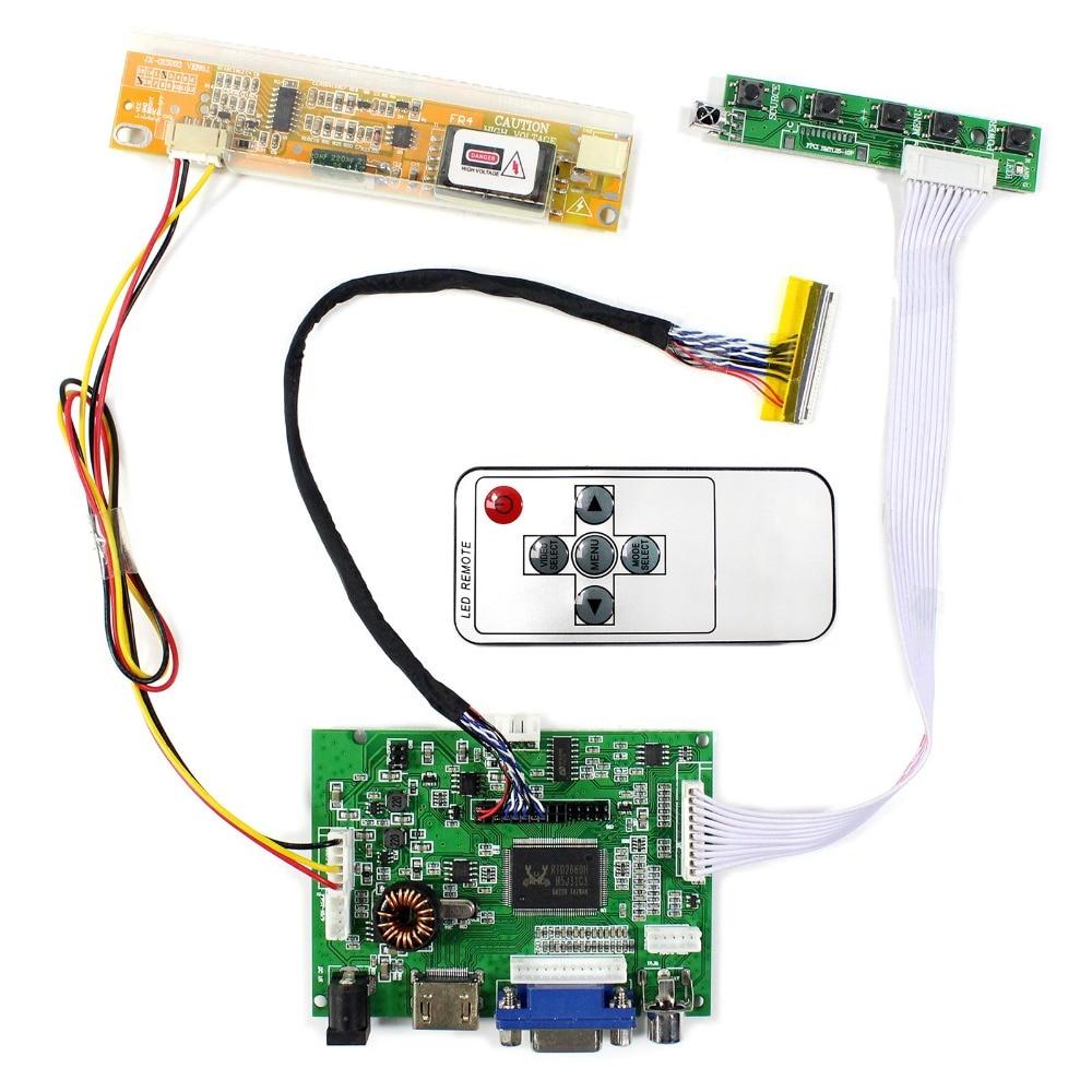 HDMI+VGA+2AV Audio LCD Controller Board For 15.6inch 1366x768 LTN156AT01 LP156WH1 LCD Screen hdmi vga 2av audio lcd controller board for 15 6inch 1366x768 ltn156at17 b156xw02 lcd screen