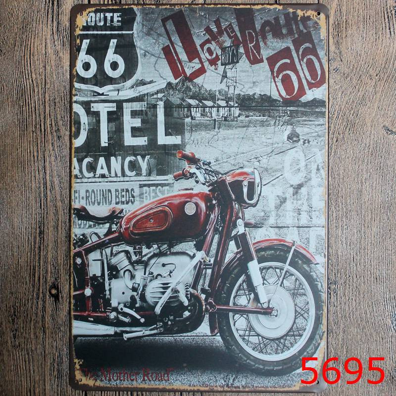 Route 66 Metal Signs Vintage Home Decor Bar Pub Decorative Metal Plates Retro Sheet Tin Sign Posters Wall Decor Painting-in Plaques \u0026 Signs from Home ... & Route 66 Metal Signs Vintage Home Decor Bar Pub Decorative Metal ...