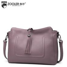 New product ZOOLER hot genuine leather bag cross body Ladies shoulder Bag Tassel Embossed Handbags Women bag#8156