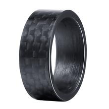 Черные чистые кольца из углеродного волокна для мужчин и женщин уникальное панк кольцо для помолвки размер от 7 до 13