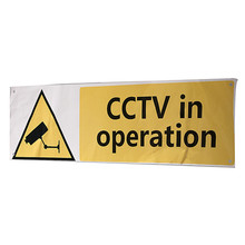 High quality CCTV In Operation Safety Security Camera Warning Sticker Decal Signs 300 x 100mm PVC Hot Sale