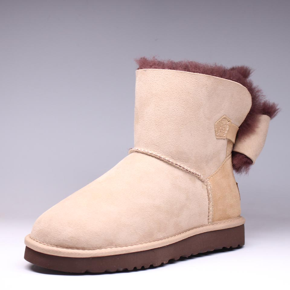 High quality autumn and winter new 100% Australian pure natural sheep fur snow boots casual casual boots pure and natural 250 1090415