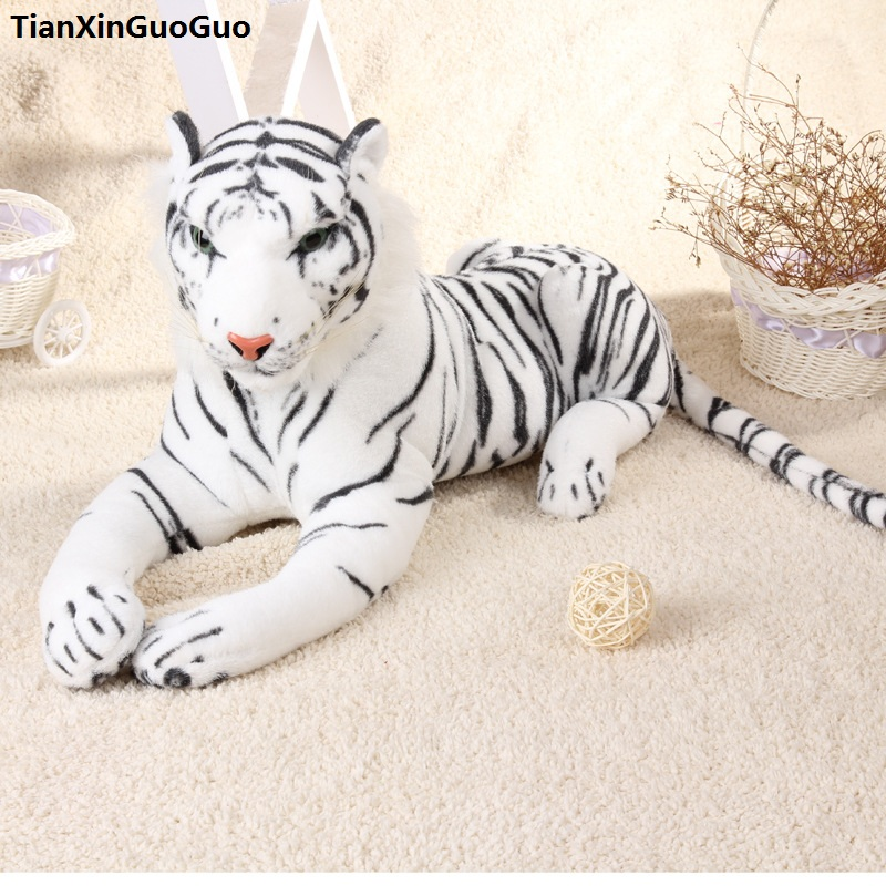 simulation tiger large 60cm white prone tiger plush toy soft doll throw pillow birthday gift s0468 cartoon cat doll about 60cm bowtie cat plush toy soft throw pillow birthday gift x107