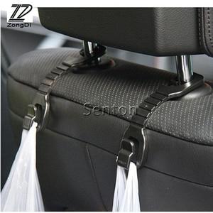 ZD 2 шт. Автомобильный держатель для заднего сиденья, крючки для Renault Megane 2 Duster Logan Captur Clio Opel Insignia Astra H J Vectra C Mokka