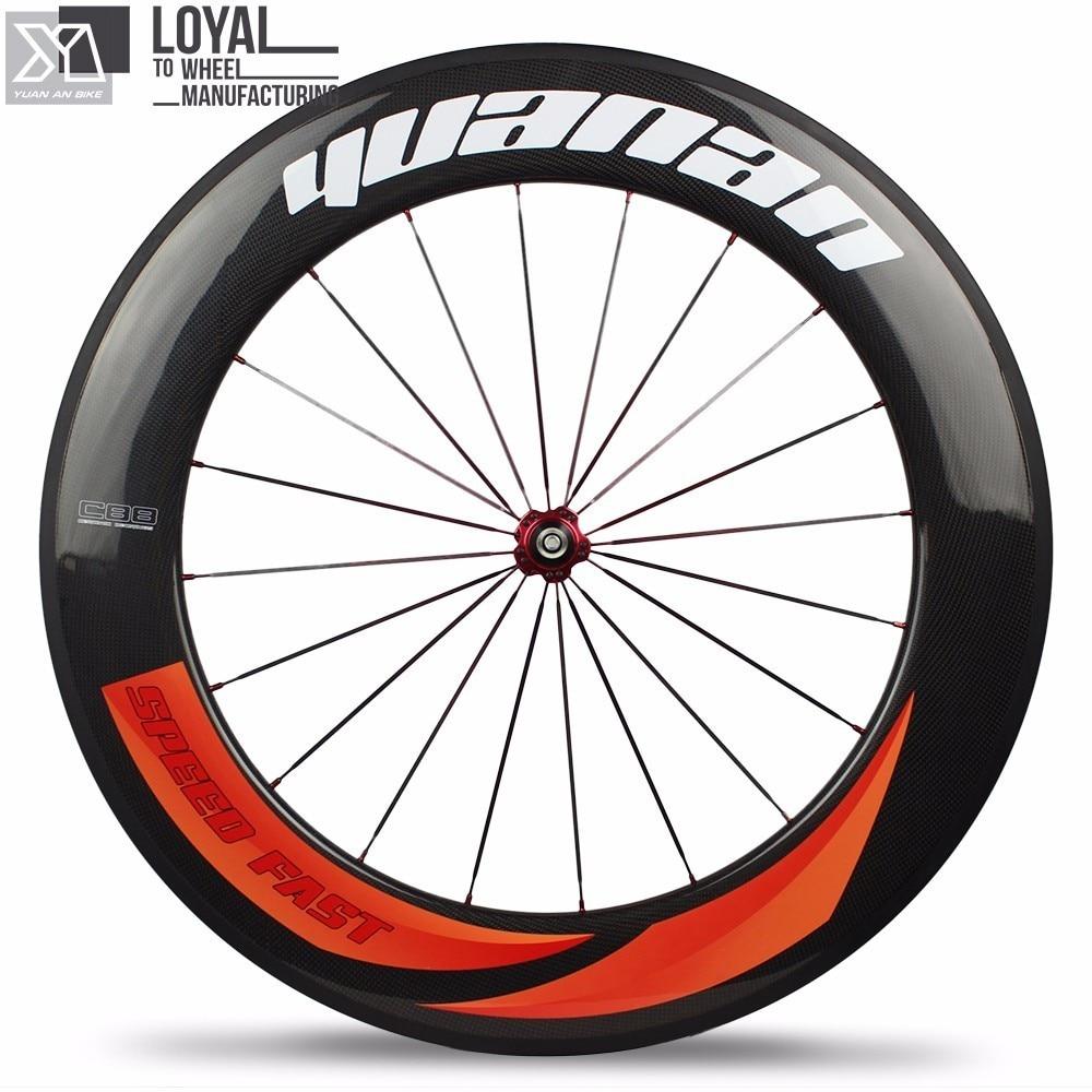 88mm depth high profile carbon road bike wheelsets 27mm width tubular rim cycle wheels with DT SWISS 350s Hub