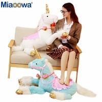 1Pc 100cm Huge Lovely Plush Toys Unicorn Horse Colorful Stuffed Animal Doll for Kids Children Creative Birthday Gift