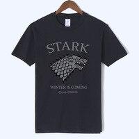 Игра престолов Зима идет футболка homme House Stark Мужская футболка буквы 2019 Летняя Повседневная Уличная одежда camiseta hombre