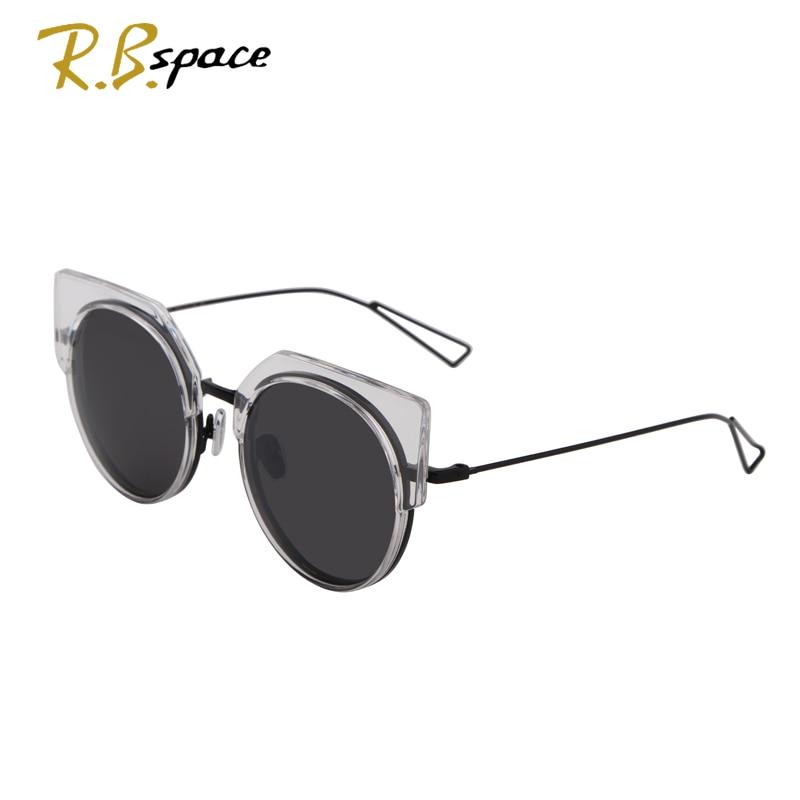 Cat Eye Sunglasses Round Frame Eyewear Women Coating Mirror Brand Designer Sunglasses Fashion Vintage Sun glasses Goggle Female