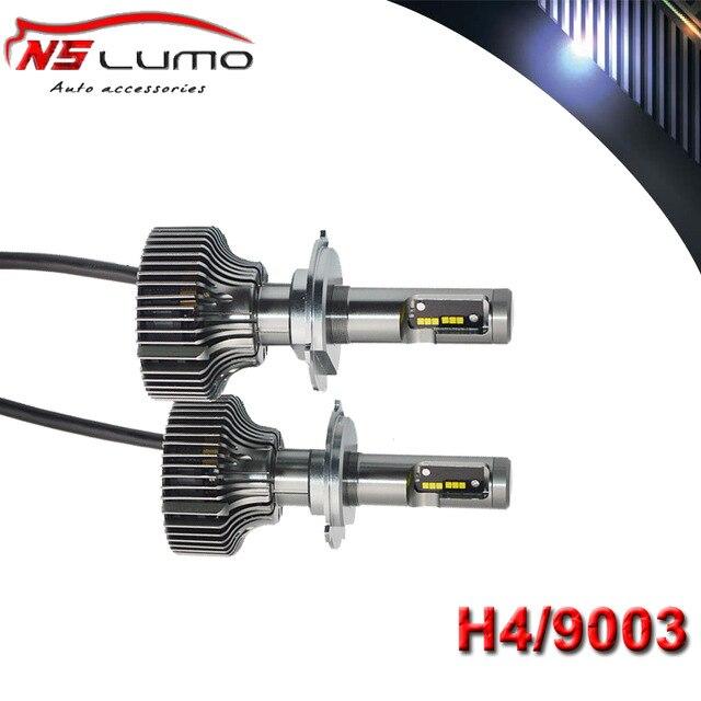 ФОТО 2pcs Led H4 Hi Lo 100W Custom Car Headlights H4 H/L 12V soul Led Headlight 6000K Plug and Play Led Headlight Conversion Kit H4