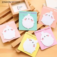 Получить скидку Jonvon Satone 6 шт. кролики Memo Бумага Удобно Вставить Симпатичные наклейки Kawaii ноутбук планировщик принадлежности Kawaii канцелярские Kawaii