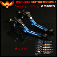 Blue Black Adjustable CNC Motorcycle Brake Clutch Levers For BMW R1200GS R1200 GS 2004 2012 2005